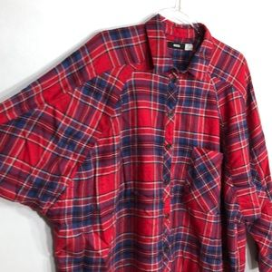 BDG Brendan Cozy Oversized Flannel Shirt 🐸